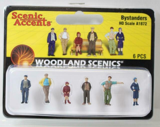 Woodland Scenics A1872 OO//HO figures x 6 free post F2 Painted Bystanders