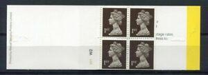 s3215b) UK GREAT BRITAIN 1989 MNH** 4x 1st Class Bar Code Walsall printing W1 W2