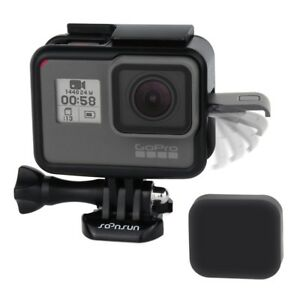 Details about Frame For GoPro HERO5 6 7 Black Protective Housing Case Mount  w/ Soft Lens Cap