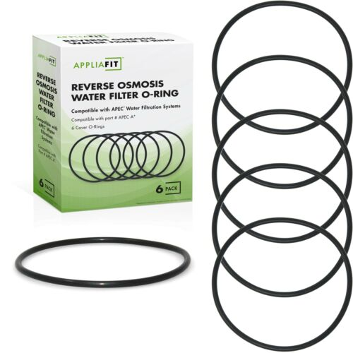 AppliaFit 6-Pack Reverse Osmosis Water Filter O-Ring Compatible With APEC