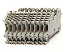 Allen Bradley 1492 J3 Terminal Block 25a 600v Acdc Gray 25mm Lot Of 10