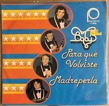 """BABY'S PARA QUE VOLVISTE / MADREPERLA MEXICAN 7"""" SINGLE PS ROCK EN ESPAÑOL 1979"""