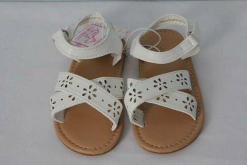 NEW Toddler Girls Sandals Size 9 White Summer Wedding Dressy Casual Shoes Flats