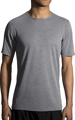 2019 Neuestes Design Brooks Ghost Short Sleeve Mens Running Top - Grey