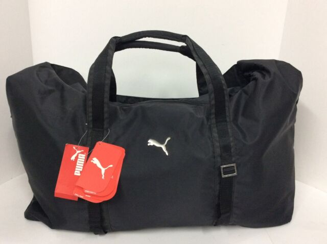 5083fea61c72 PUMA Fitness Lux Workout Bag Style  066599 01 Black for sale online ...