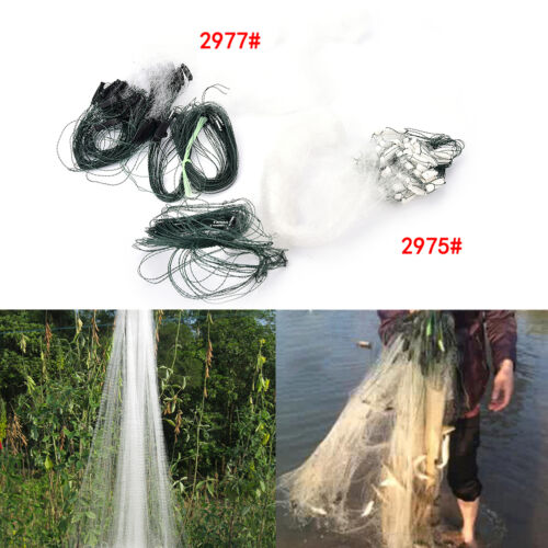 20m 1 Layers Fishing Net Monofilament Fishing Gill Network With Float 2 Option..