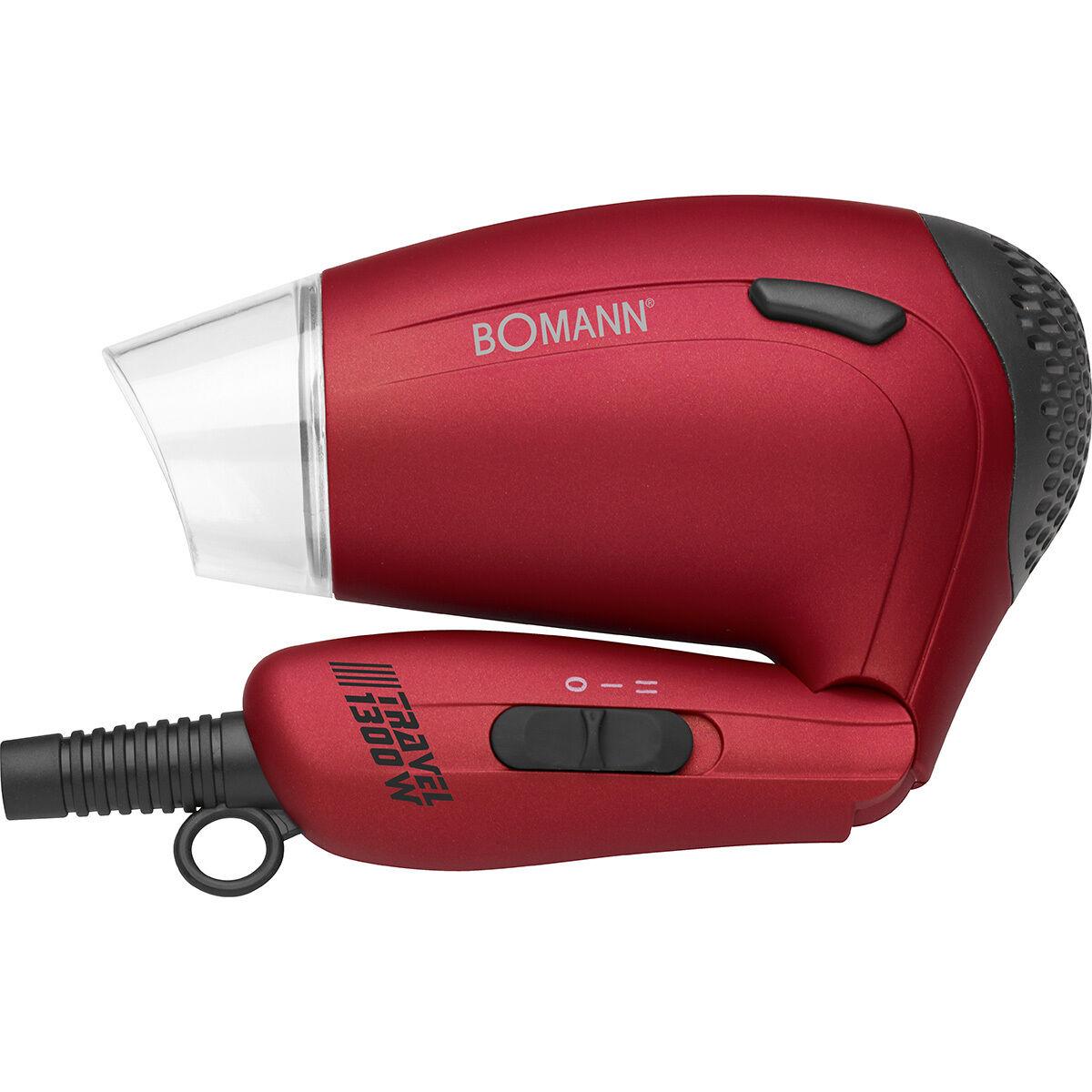 Bomann HTD8005 - Secador de pelo de viaje con difusor, mango plegable,...