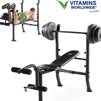 weight bench set with bar and weights 100 lb lifting