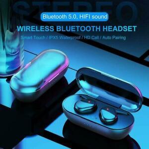 TWS4-Bluetooth-5-0-Drahtlose-Kopfhoerer-Stereo-Headset-Ear-Mini-In-Kopfhoerer-S8G1