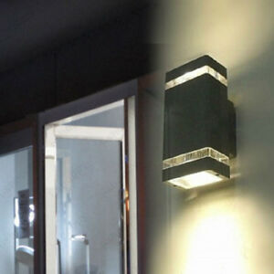 Updown led outdoor light fixture wall sconce lamp bulb waterproof image is loading up down led outdoor light fixture wall sconce workwithnaturefo