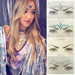 ce65466896 Details about Glitter Face Gems Rhinestone Jewels Party Body Art Tattoo  Sticker Fancy