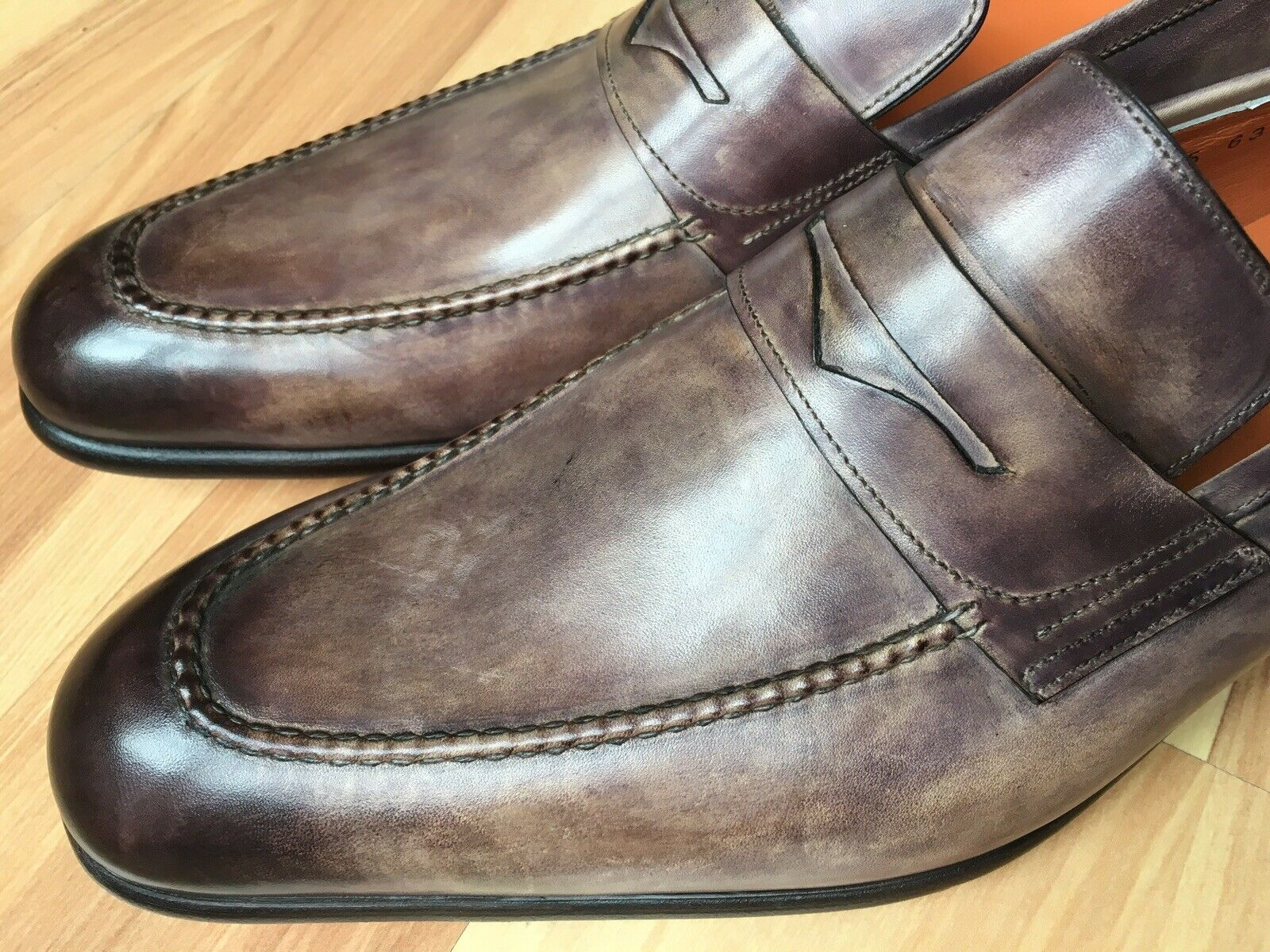 ec00994f Santoni 'Fatte un Mano' PENNY De Cuero Marrón 9.5 Reino Unido (11 US)  Mocasines nbjsqb9269-Zapatos de vestir