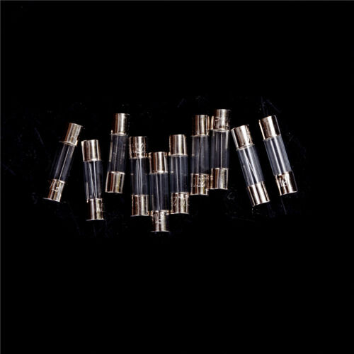 10Pcs//set 5x20mm Quick Blow Glass Tube Fast Acting Fuse 1-20A M/&R