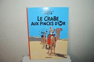 Libro-Bd-Avventure-Tintin-il-Granchio-Alle-Pinze-Oro-Casterman-Herge-come-Nuovo