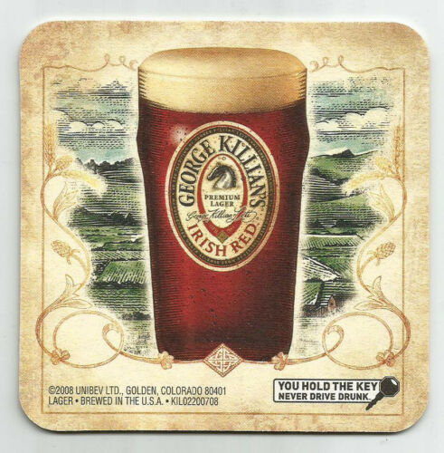 16 Killian/'s Irish Red The Pint To Grab When You/'re Staying Awhile   Coasters