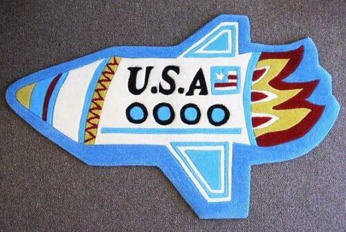 Hand Tufted and Hand Carved Rocket Rug