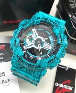 Casio-G-Shock-GA110SL-3A-Slash-Pattern-Watch-Green-Resin-for-Men-COD-PayPal