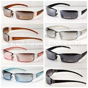 New-Mens-Womens-Rectangular-Designer-Sunglasses-Shade-Fashion-Wrap-Rimless-7028