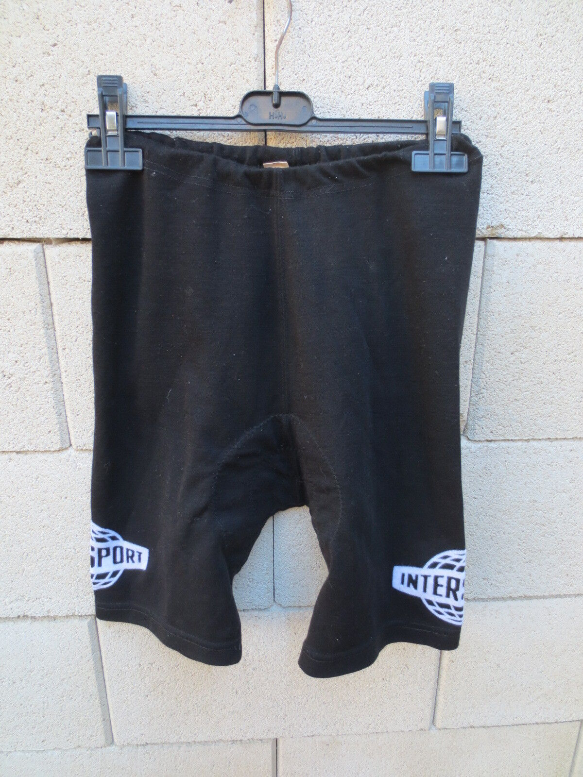 VINTAGE Cuissard cycliste  INTERSPORT année 70 cycling short 2 S made in France  new style