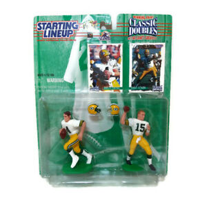 Starting-Lineup-Brett-Favre-Bart-Starr-Action-Figures-With-Helmets