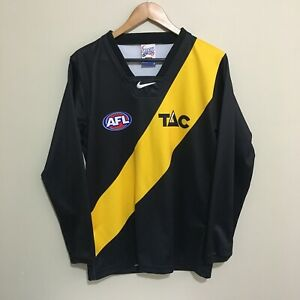 Richmond-Tigers-2002-Long-Sleeve-Guernsey-AFL-Football-Jumper-Adult-Mens-Small