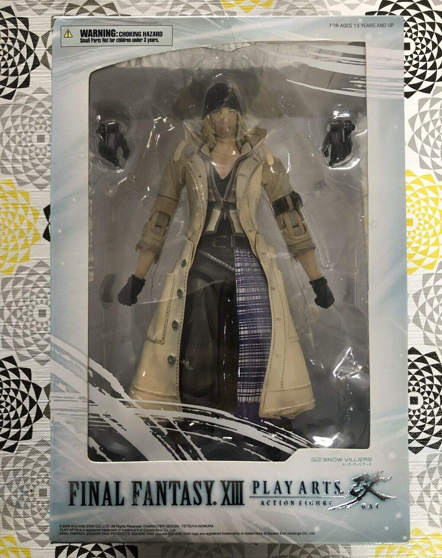 Play Arts Snow Villiers Figure Final Fantasy XIII 13 Square Enix Kai In Box