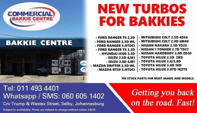 Turbos For Most Bakkie Makes and Models For Sale