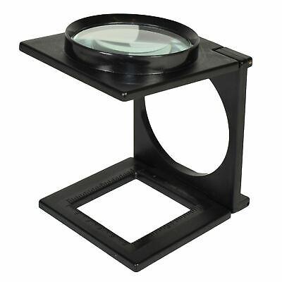 Pieghevole lente d/'ingrandimento Magnifier di vetro Lettura Aiuto Ottico Lente e stand