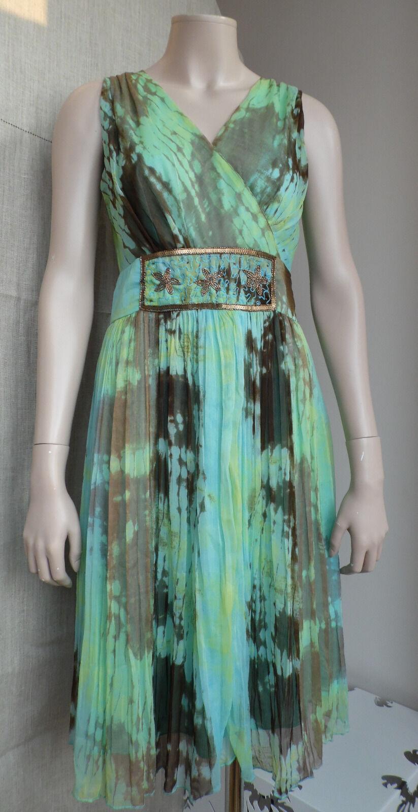 Alain Weiz Frankreich Chiffon design Kleid Coctail Bal Hochzeit Gr. 36 festlich