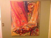 Original Art Acrylic and Oil on Canvas Popular Artist Kiril Jeliazkov