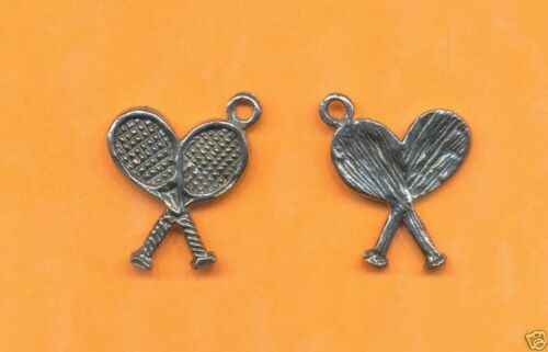 lead free pewter tennis racket charm 1162