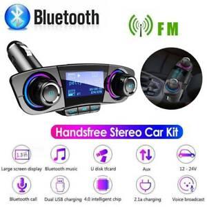 Bluetooth-Handsfree-Car-Kit-FM-Transmitter-Modulator-Aux-Audio-USB-MP3-Player