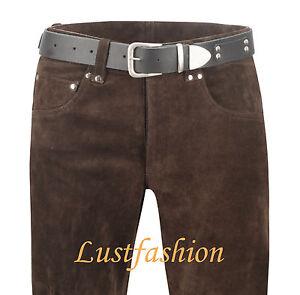Lederjeans-braun-Lederhose-Wildleder-Rauleder-Suede-leather-trousers-brown-Cuir