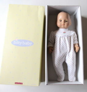 American-Girl-Retired-15-034-Bitty-Baby-Doll-With-Box-Meet-Outfit-By-Pleasant-Co
