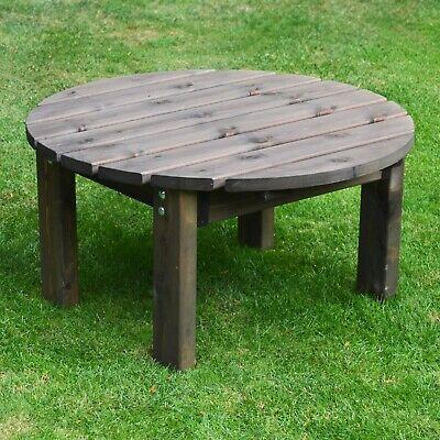 Barrowden Outdoor Wooden Garden Coffee Tablepatio Furniture Circular 90cm Ebay