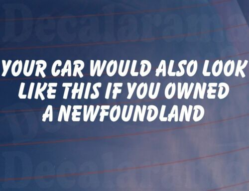 YOUR CAR WOULD ALSO LOOK LIKE THIS IF YOU OWNED A NEWFOUNDLAND Funny Sticker