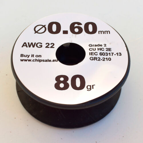 2.8 oz 0.6 mm 22 AWG Gauge 80 gr ~30 m Magnet Wire Enameled Copper Coil