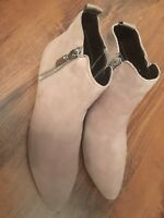Next Brand New Size 5 7 Beige Suede Look Ankle Boots With Side Zip