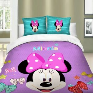 Minnie-Mouse-Duvet-Cover-Set-Twin-Full-Queen-King-Size-Bedding-Set-Purple