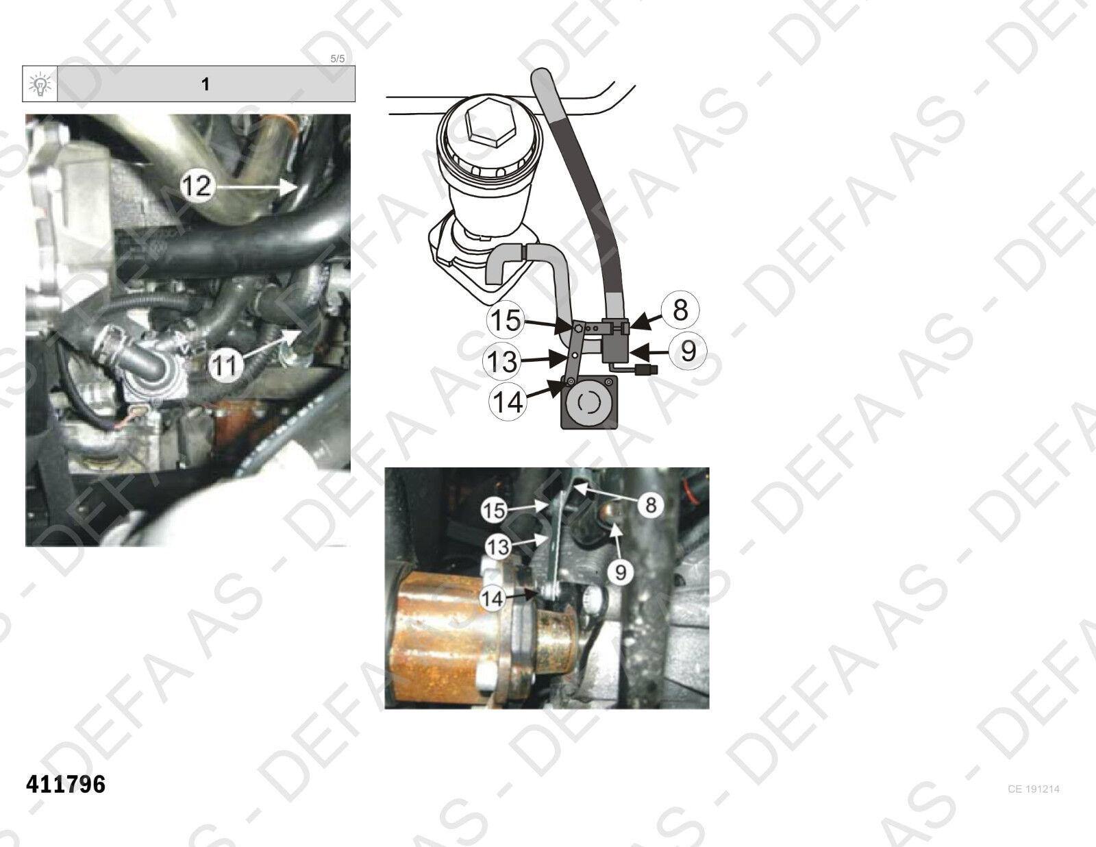 Engine Heater Element DEFA 411796 AUDI A4 A5 Q5 SEAT EXEO 2.0TDI 2008--/> 2010--/>