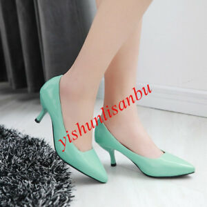 19ae2352bb6 ALL US SIZE Women Kitten heel Office Dress shoes Pointed toe Pumps ...