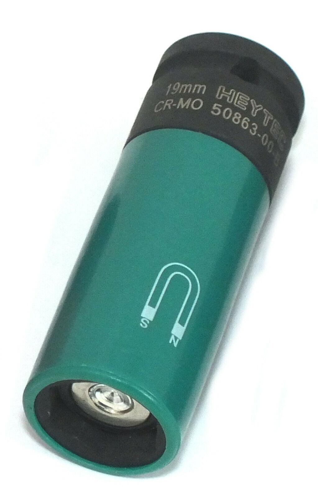 Heytec B-Ware Kraftnuss Stecknuss Nuss mit Magnet und Schutzhülse 19 mm