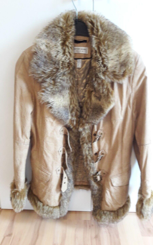 online store eb70d a9a50 Leather-suono ,winterjacke TOP 42 Leder Beige Jacke ...