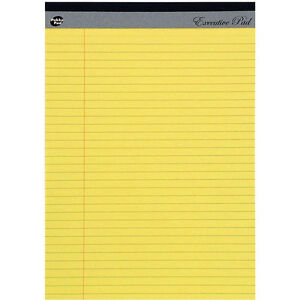 A4-Legal-Pad-Yellow-Executive-Refill-8mm-Ruled-with-Margin-100-Pages-Pack-of-5