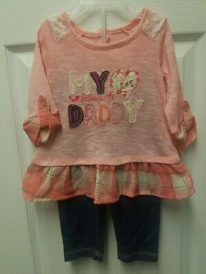 Baby Girl Nannette Kids Cream /& Brown Leopard Print 2 Pc Outfit Sizes 18M 24M