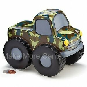 Monster-Truck-Coin-Piggy-Bank-Camo-Finish-FREE-SHIPPING