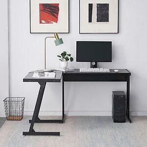 Inbox Zero L-Shaped Computer Desk,Black - 75% Off Canada Preview