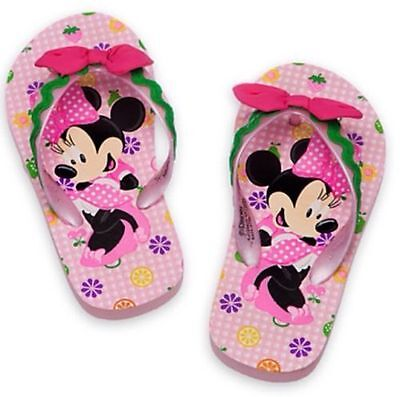 Disney Store Minnie Mouse Clubhouse Flip Flops 4//5 6//7 7//8 Brand New
