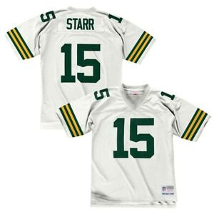 super popular d5d3b 5f05f Details about Bart Starr 1969 Green Bay Packers Mitchell & Ness Road White  Legacy Jersey Men's