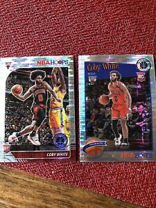 2019-20 NBA Hoops Premium Stock Coby White Pulsar Prizm (Lot of 2) #204 + #295